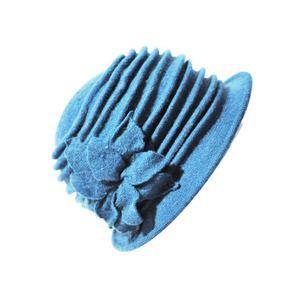 braderie en ligne ici acheter pas cher Chapeaux de cloche en pur laine Benoit bleu Bleu - Achat ...