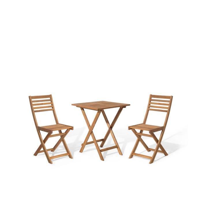Ensemble de jardin petite table avec 2 chaises Fiji - Achat / Vente ...
