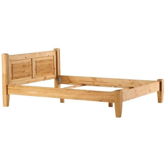lit en pin massif 140x190 achat vente lit en pin massif 140x190 pas cher soldes d s le 10. Black Bedroom Furniture Sets. Home Design Ideas