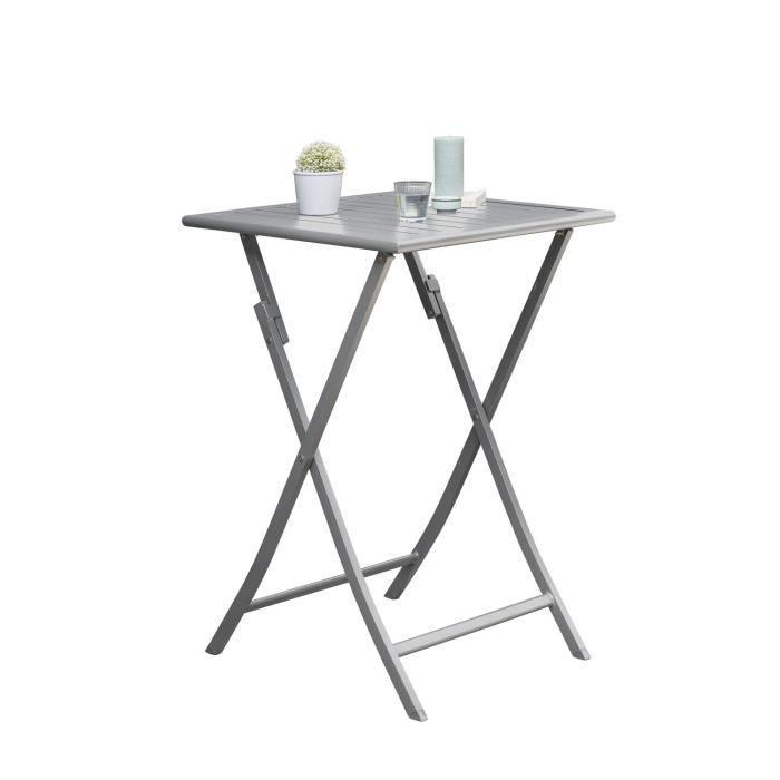 Table haute de jardin pliante 2 Personnes Marius - 70 x H. 100 cm ...