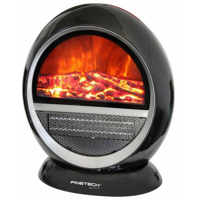 chauffage c ramique d cor chemin e radiateur effet feu de bois rotatif conomique achat. Black Bedroom Furniture Sets. Home Design Ideas