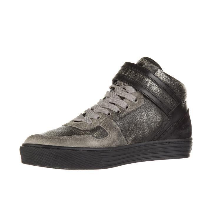 Chaussures baskets sneakers hautes homme en cuir r206 Hogan Rebel