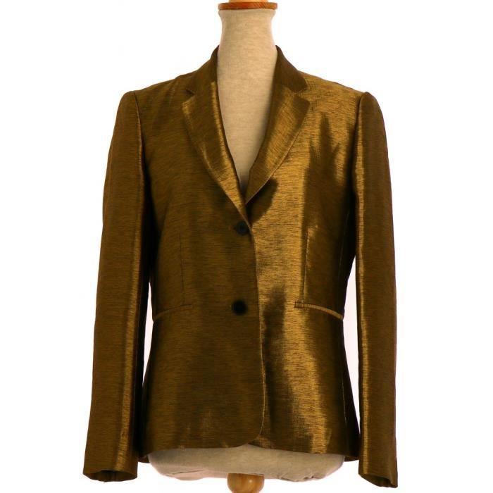 4575a789f755 Veste   Blazer PABLO DE GERARD DAREL FR 38 Jaune Or - Achat   Vente ...