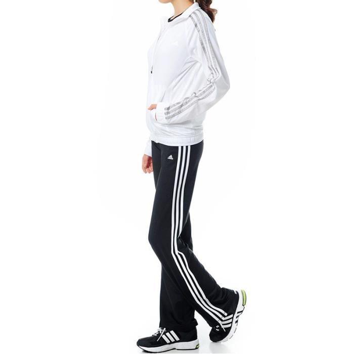 Survêtement Clima Knit suit Blanc Entrainement Femme Adidas Blanc ... 253fadb0b78