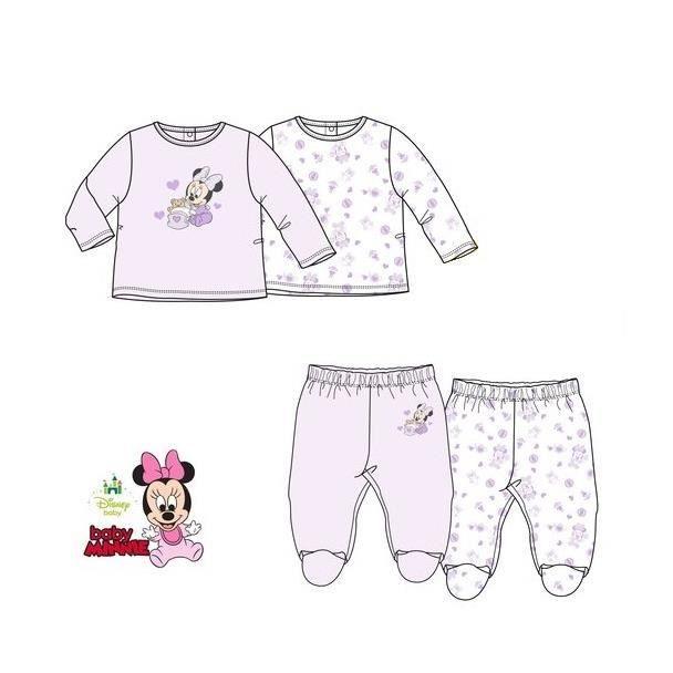 0d523110ebcf6 Lot de 2 pyjamas bébé fille MINNIE layette cadeau naissance ...