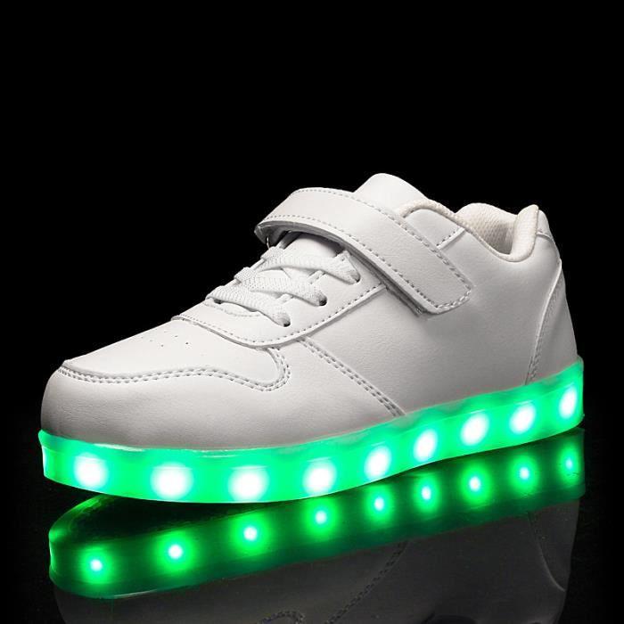 Chaussures d'automne et d'hiver pour enfants classique LED light board coloré chaussures de sport garçon