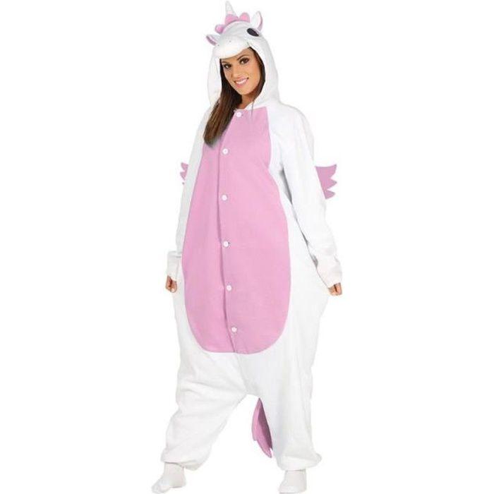 Déguisement Costume - Licorne Rose pour Femme Adulte   Body   Pyjama ... 3fb21e1f2248