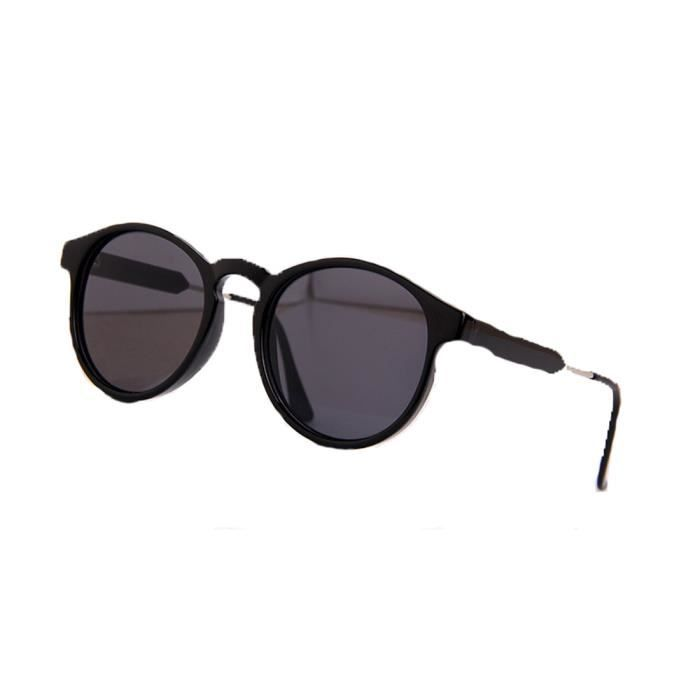 Accessoryo - noir rétro deux tons des lunettes de soleil rondes imprimé léopard des femmes cC12Gh