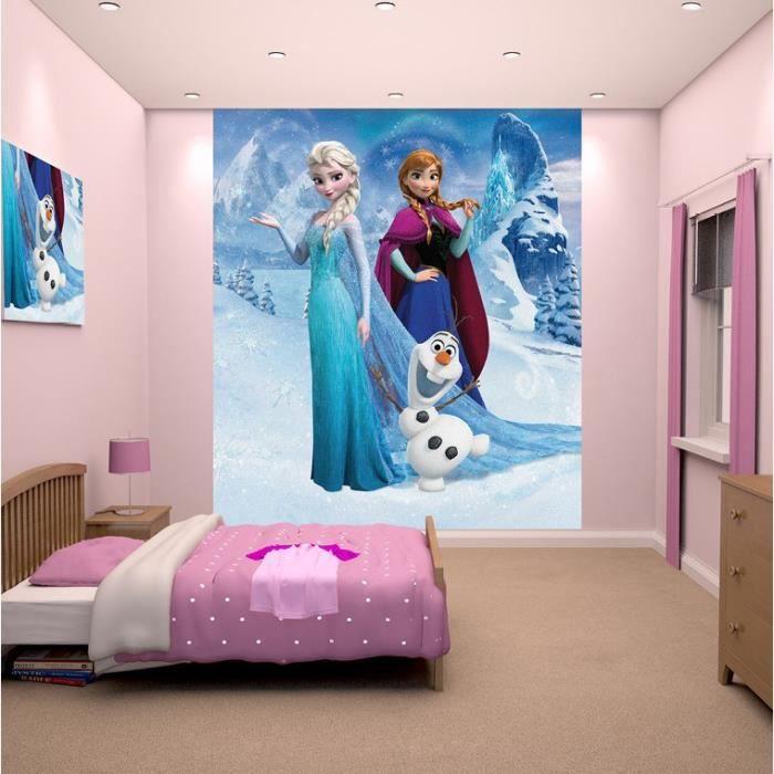 papier peint enfant la reine des neiges fresque murale. Black Bedroom Furniture Sets. Home Design Ideas