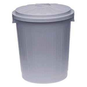 poubelle plastique 50 l achat vente pas cher. Black Bedroom Furniture Sets. Home Design Ideas