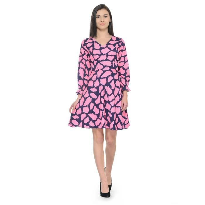 Womens Multicolor Printed Shift Dress R7JY1 Taille-34