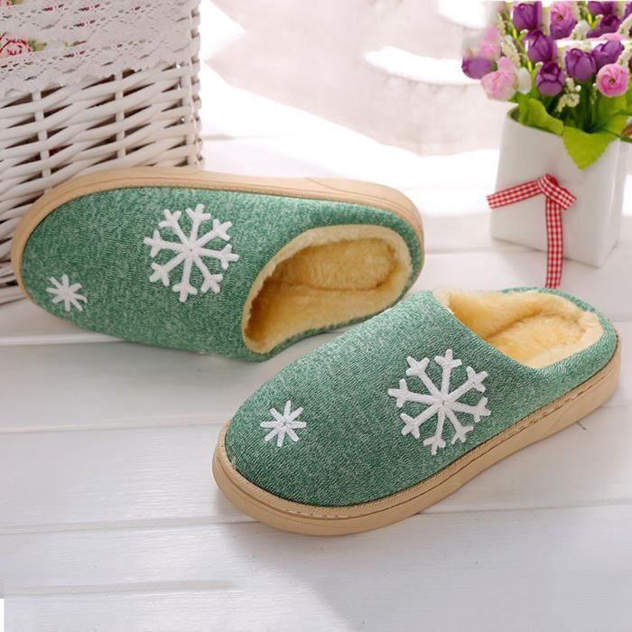 hommes d'hiver chaussures à la maison d'intérieur fausse fourrure pantoufles chaudes gris 0Ulby