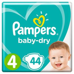 COUCHE PAMPERS Baby Dry Taille 4 - 8 à 16 kg - 44 couches