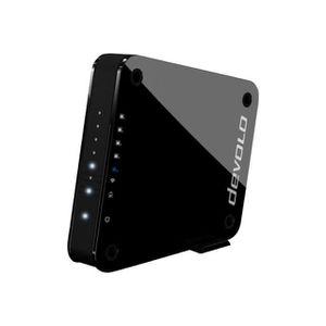 GigaGate Extension Bridge WiFi 5 ports Ethernet -Transfert de données 2 Gbits-s Bande de fréquence 2,4 Ghz-5 Ghz