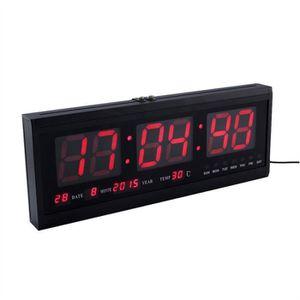 Horloge murale temperature achat vente pas cher for Horloge led murale
