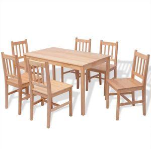 TABLE A MANGER COMPLET Magnifique vidaXL Ensemble de salle a manger sept