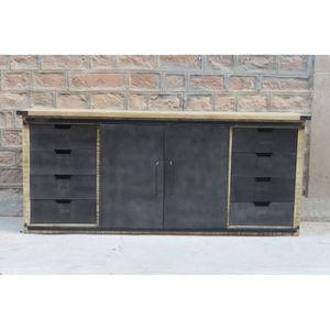 meuble bois metal achat vente pas cher. Black Bedroom Furniture Sets. Home Design Ideas