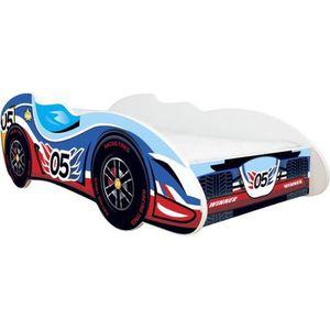 BOUT DE LIT Lit auto Formule 1 - 05 CAR + matelas 140x70