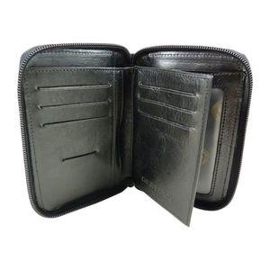 Chaussmaro Portefeuille Compact Zippéàfermeture éclair Tout Autour En Cuir  WUYDR 2ed71c6b6d5