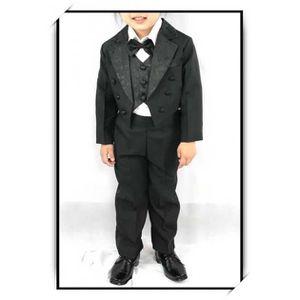 COSTUME - TAILLEUR Costume gilet chemise enfant garçon VCS501B noir