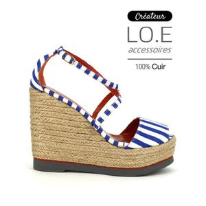 sandale - nu-pieds, Compensées Marron Chaussures Femme, Cendriyon