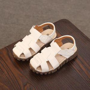 SANDALE - NU-PIEDS Enfant Bébés Sandales Fille Garçon Mode Velcro PU