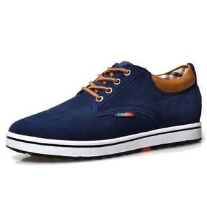 new styles 3d6aa 3832e CHAUSSURES DE FOOTBALL Véritable cuir suédé chaussures Elevator hauteur c  ...