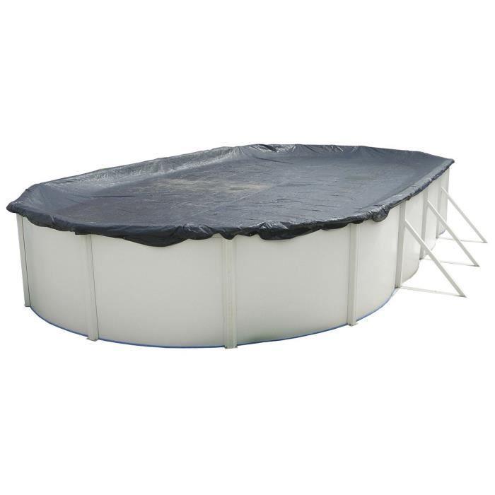 TORRENTE Bâche d'hiver pour piscine 640x366cm - Noire