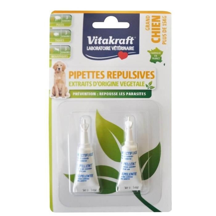 VITALKRAFT Pipettes insectifuges pour grand chien - 4 g