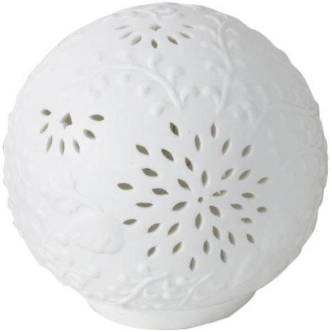 Lampe boule en porcelaine fleurus achat vente lampe for Lampe a poser boule