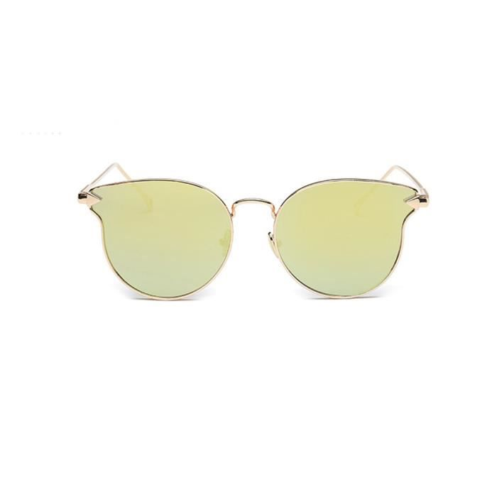 Deuxsuns®Femme Hommes Mode Chat Vintage Métal Cadre Miroir Lunettes de Soleil Lunettes de Soleil@zf615