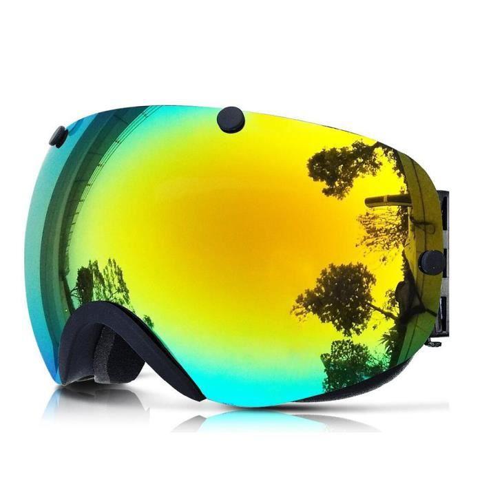 8ddad4b567107e MASQUE - LUNETTES SKI Snowboard Masque Lunettes de Ski à Double Anti-bué
