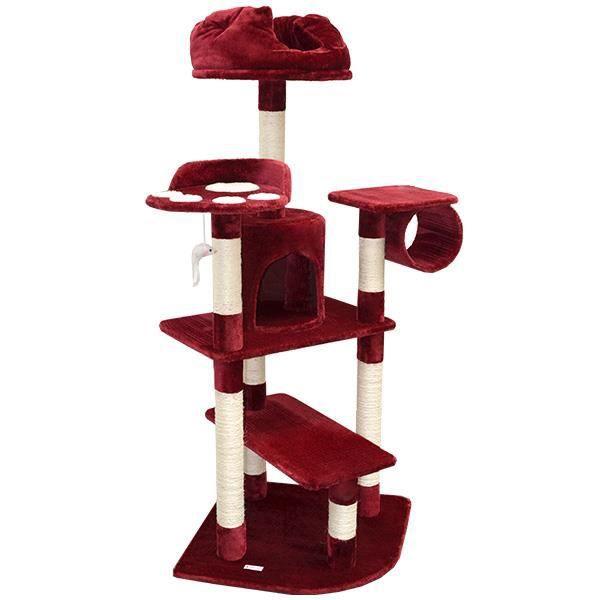arbre a chat rouge. Black Bedroom Furniture Sets. Home Design Ideas