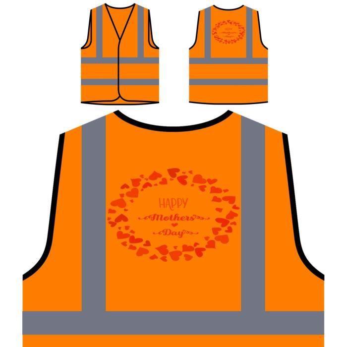 Veste Mothers Protection Vi À Haute Day Visibilité Personnalisée happy 2 De Orange aa1rwUxHq