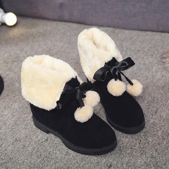 Bottes de neige poils hiver bottes de cheville chaussures femme bottes de mode gRJ1RNJ