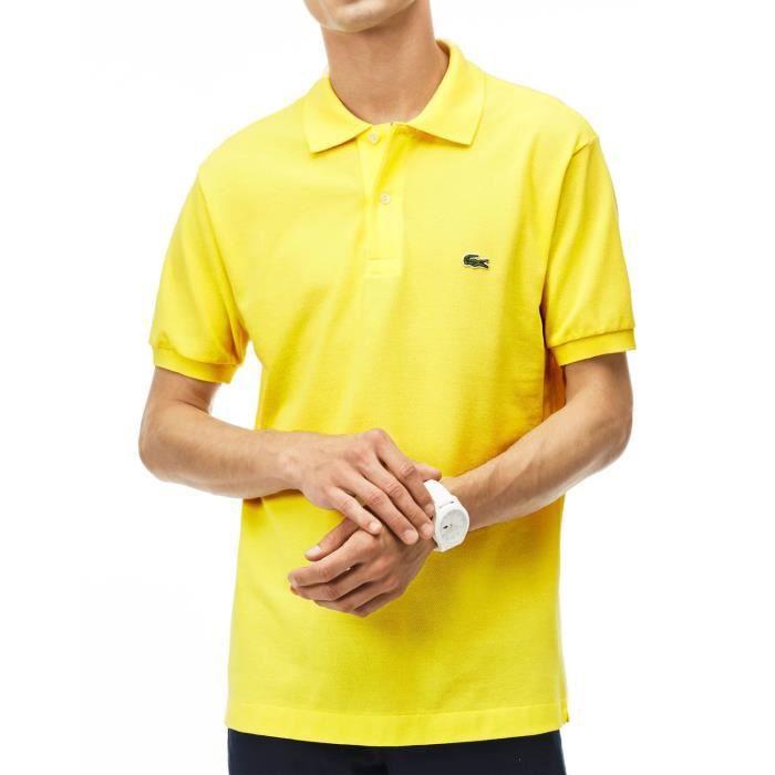 468d52729e LACOSTE - Polo pour homme uni L.12.12 (jaune - 6 - XL) Jaune Jaune ...