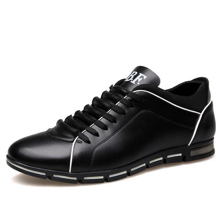 Chaussures Bateau - Mocassins Homme Rouge-Blanc-Bleu Noir