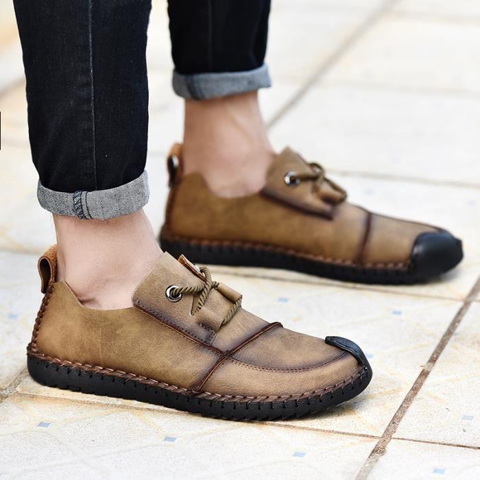 Mocassins homme Mocassins mode Mocassins automne Mocassins à la main Chaussures de villeChaussures loisir Chaussures courantes zgYEPRC8