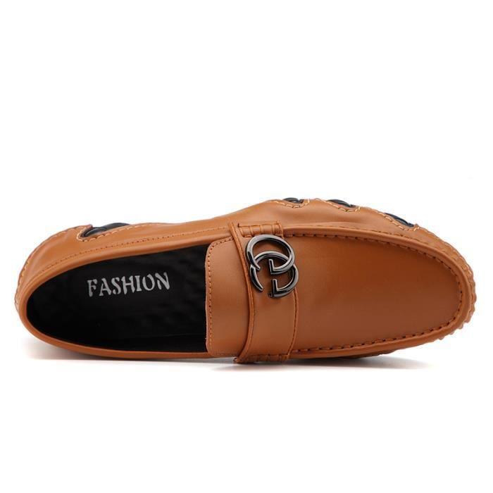 Bateau Homme Bateau en cuir Chaussures conduite Chaussures de ville Chaussures plates Confortables et légères