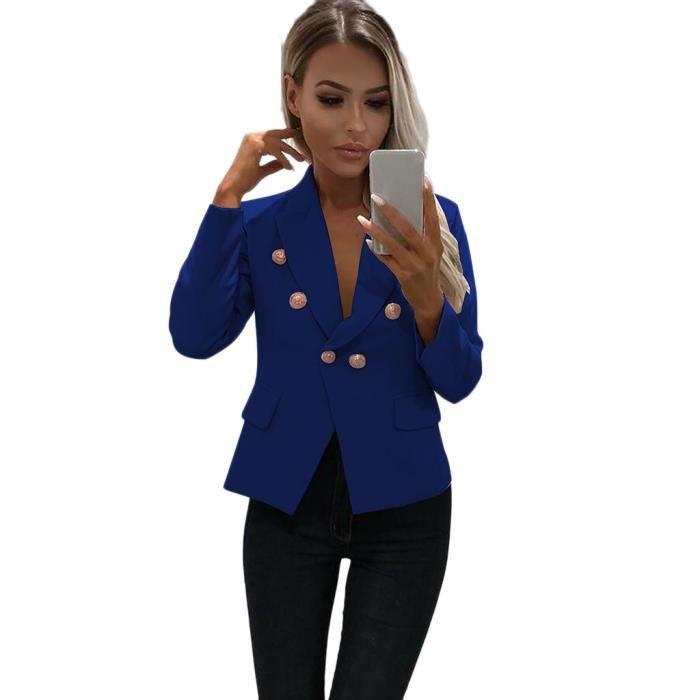 Manteau Veste Court Manches Avant Blazer ®wrg1877 Costume Ouvert Longues Bureau Travail De Femmes Cardigan vf8wBTBq