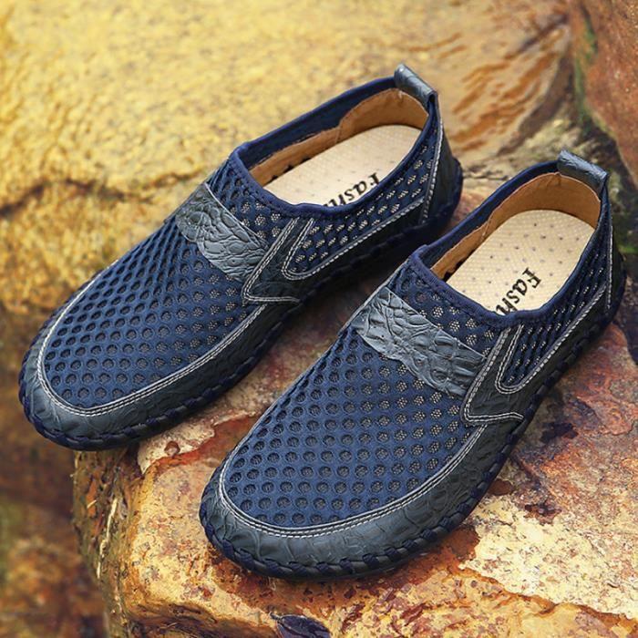 Printemps Homme Chaussure On Chaussures Comfortable YLG Été XZ070Bleu44 Respirant Slip 11wqAR5