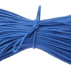 LACET  lacets ronds coton ciré couleur bleu blason - 7…