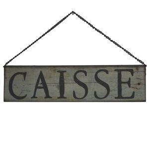 OBJET DÉCORATION MURALE Plaque Enseigne de Porte Caisse Vert 40 cm x 10 cm