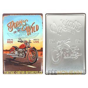 Plaque metal moto - Achat / Vente pas cher