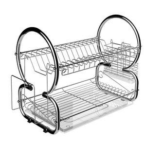 EGOUTTOIR À COUVERTS Égouttoir vaisselle chrome inox double niveau couv