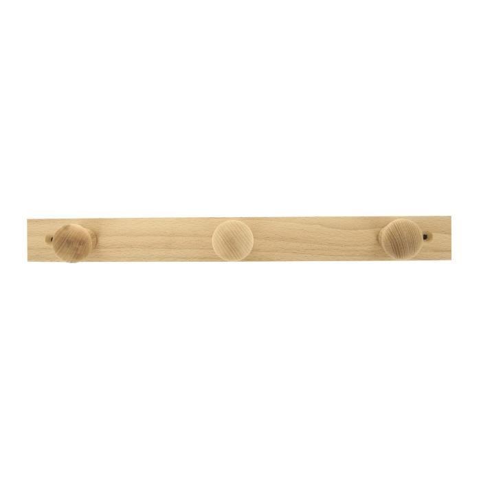 Porte-manteaux - 420 x 43 mm - Hêtre brut