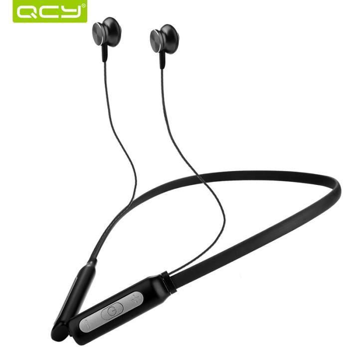 Qcy Bh1 Sans Fil Léger Neckband Casque Bluetooth Ipx5 Résistant À L'eau Sport Écouteurs