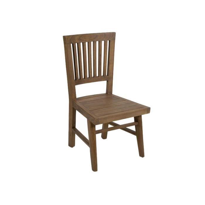 chaises rustique en bois achat vente chaises rustique en bois pas cher cdiscount. Black Bedroom Furniture Sets. Home Design Ideas