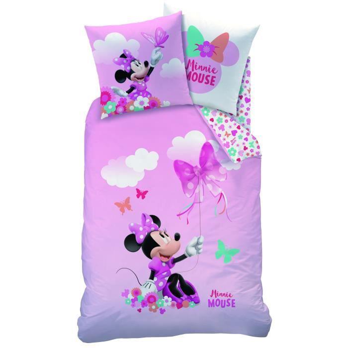 Parure De Couette Disney Minnie Papillon 1 Housse De Couette Et 1