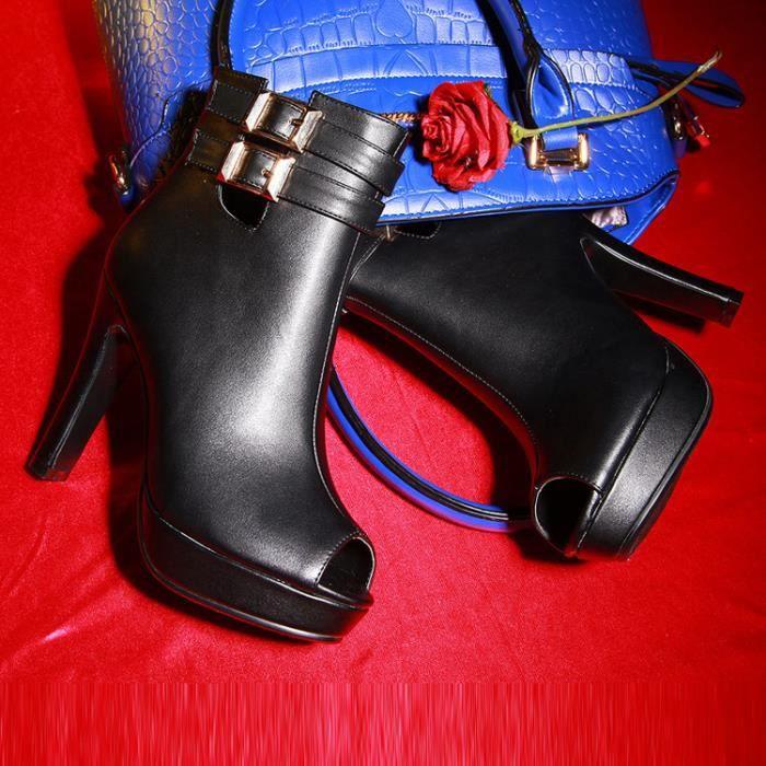 bottes courtes-Pure plate-forme Couleurpais B...